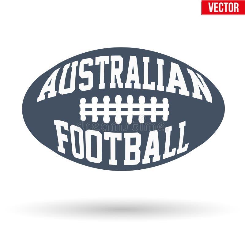 Bal van Australische regelsvoetbal met typografie stock illustratie