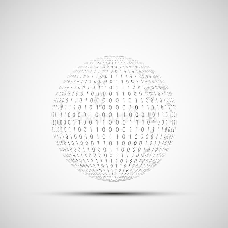Bal van binaire code vector illustratie