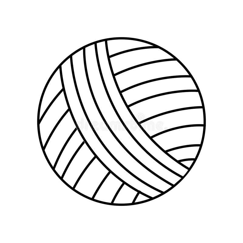 Bal van wol geïsoleerd pictogram stock illustratie
