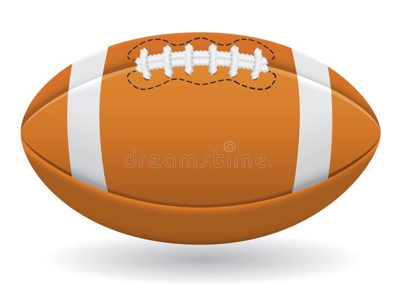 Bal voor Amerikaanse voetbal vectorillustratie vector illustratie