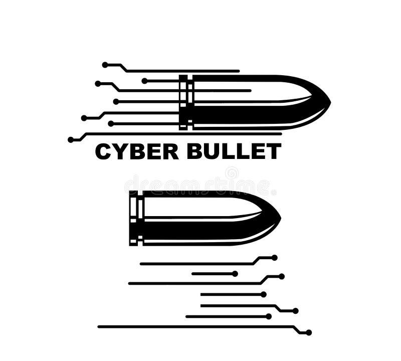 Bala do Cyber foto de stock