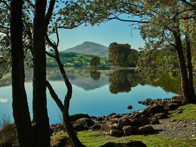 Bala Lake of Llyn Tegid, Bala, Snowdonia royalty-vrije stock afbeeldingen