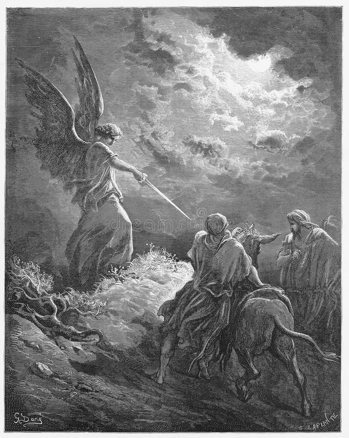Balaam встречает ангела стоковые изображения rf