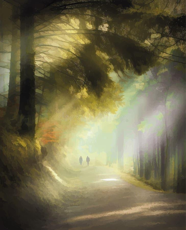 Balade par des bois de Cardinham dans les Cornouailles photo libre de droits