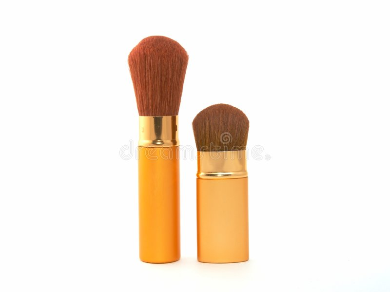 Balai cosmétique mou image stock