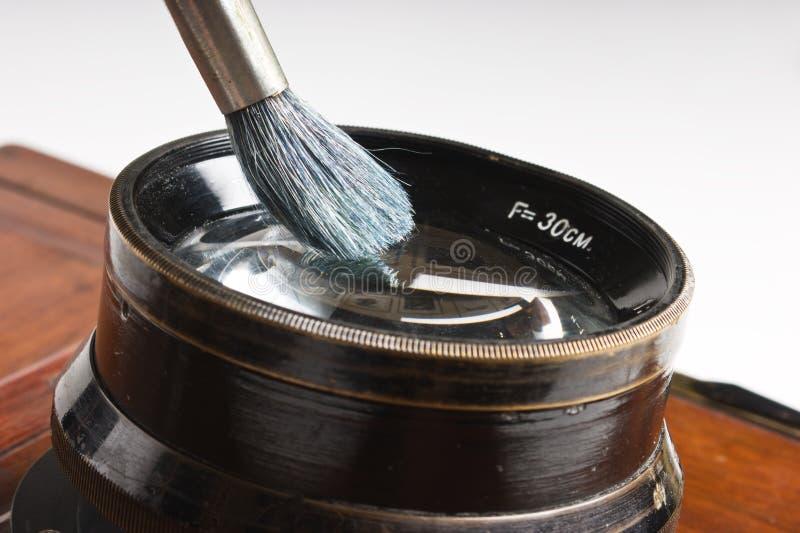 Balai de nettoyage de lentille images libres de droits