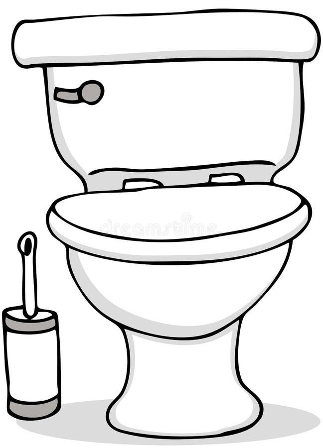 Balai de toilette et de nettoyage illustration stock