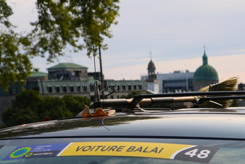 Balai de Voiture em Montreal Prix grande Cycliste o 9 de setembro de 2017 fotos de stock royalty free