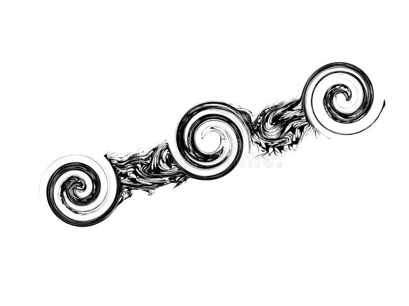 Balai noir illustration de vecteur
