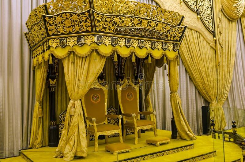 Balai Rong Seri Istana Negara, королевского музея, Малайзии стоковое фото rf