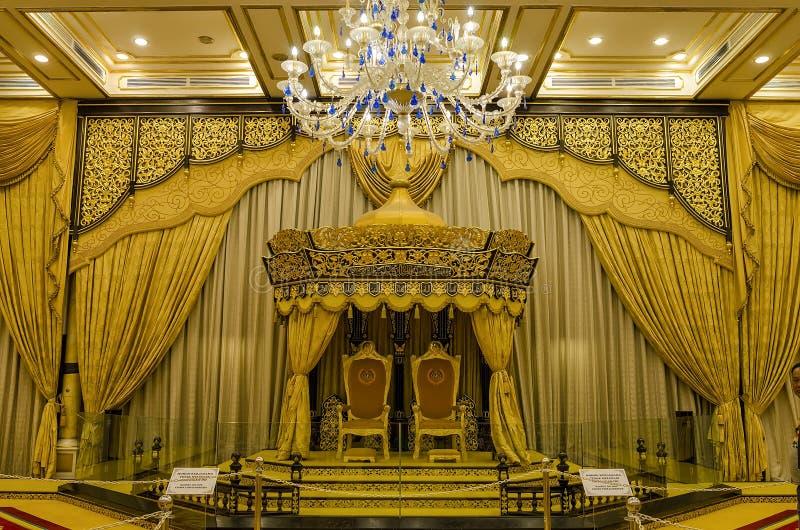Balai Rong Seri Istana Negara, королевского музея, Малайзии стоковая фотография rf
