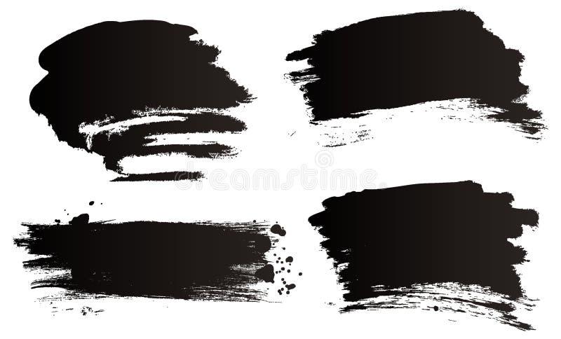Balais de grunge de vecteur illustration de vecteur