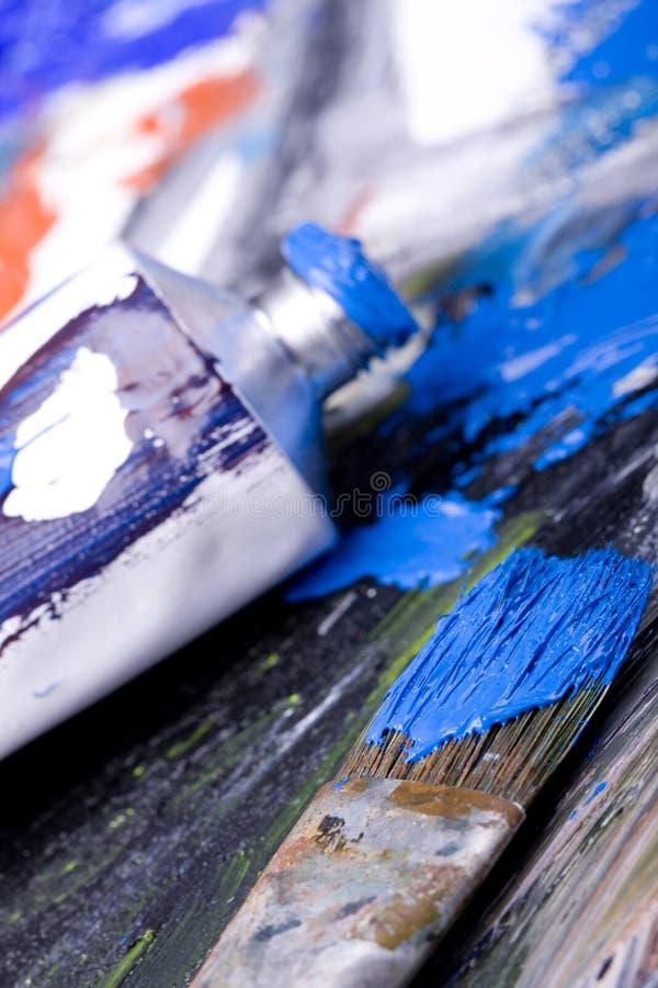 Balais de peinture photographie stock libre de droits