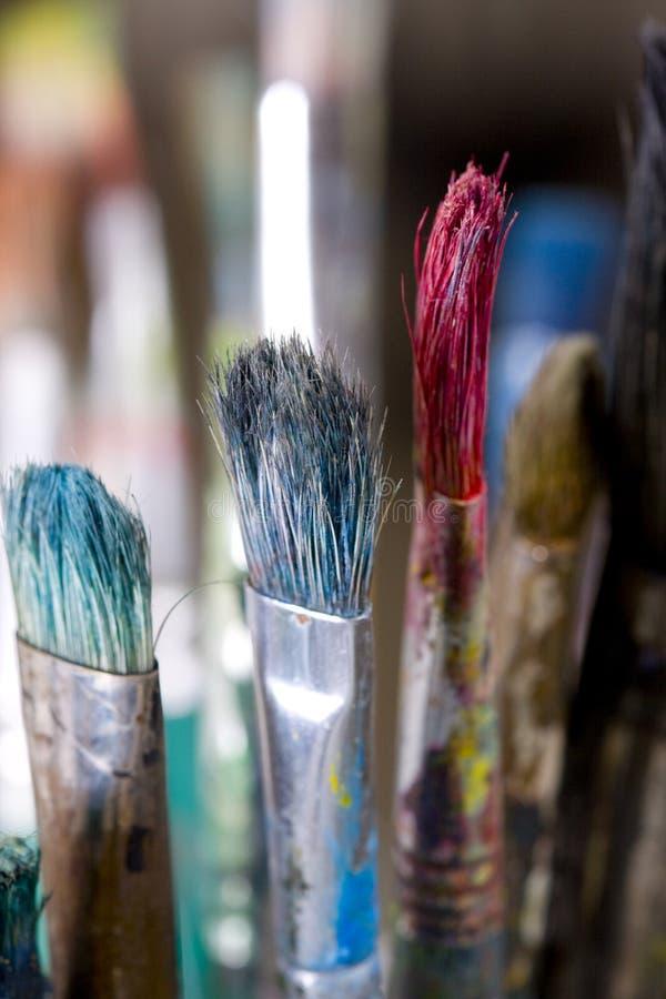 Balais de peinture images libres de droits