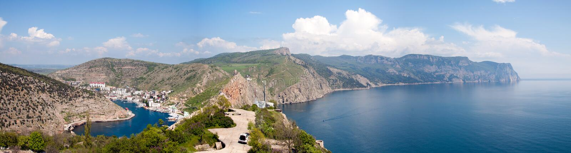 Balaklava bay. Bay of Balaclava at noon royalty free stock image