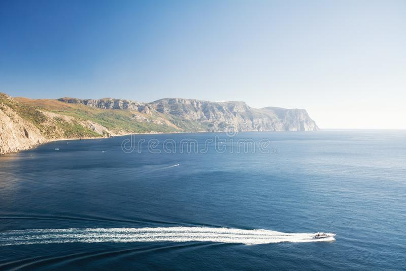 Balaklava Bay, Balaklava, Sevastopol stock image