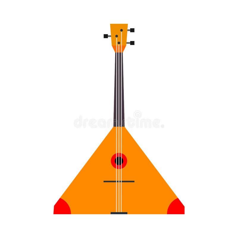Balalaika διανυσματικό σύμβολο απεικόνισης άποψης εικονιδίων τοπ Ακουστική ξύλινη κόκκινη ορχήστρα σειράς εθνική Κινούμενα σχέδια ελεύθερη απεικόνιση δικαιώματος