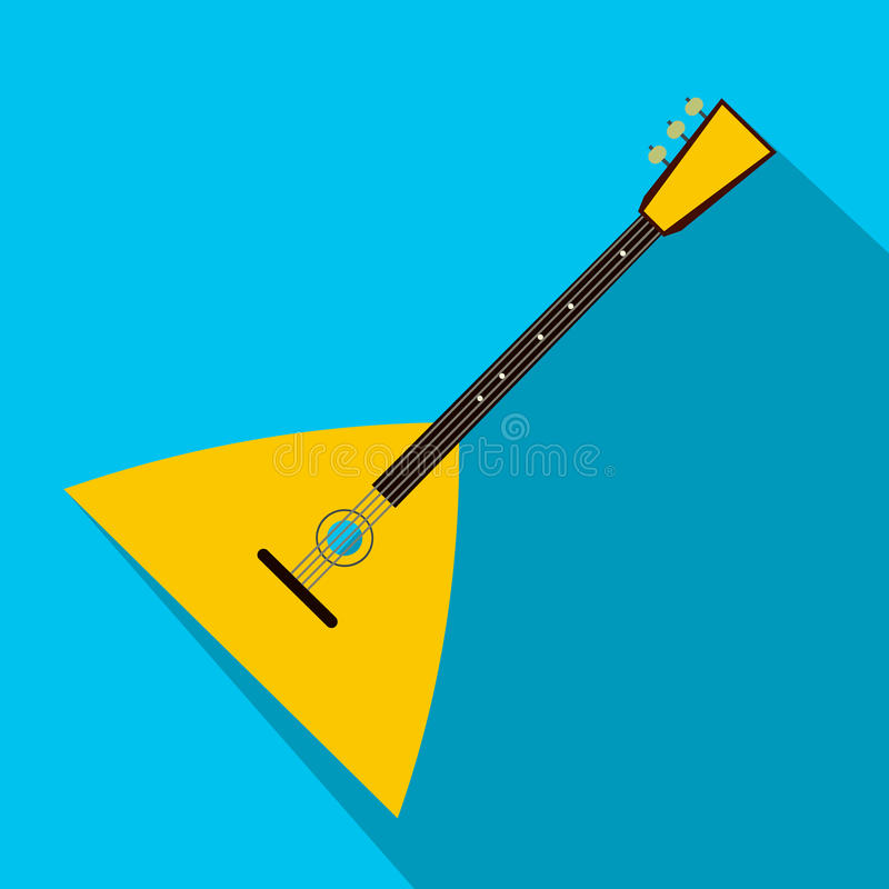 Balalaika flat icon. For web and mobile devices vector illustration
