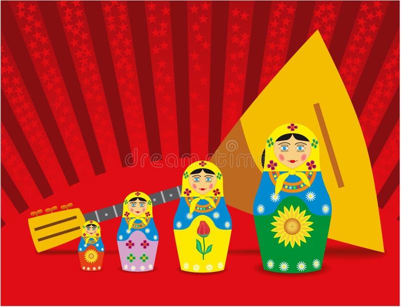 balalaikadockor stock illustrationer