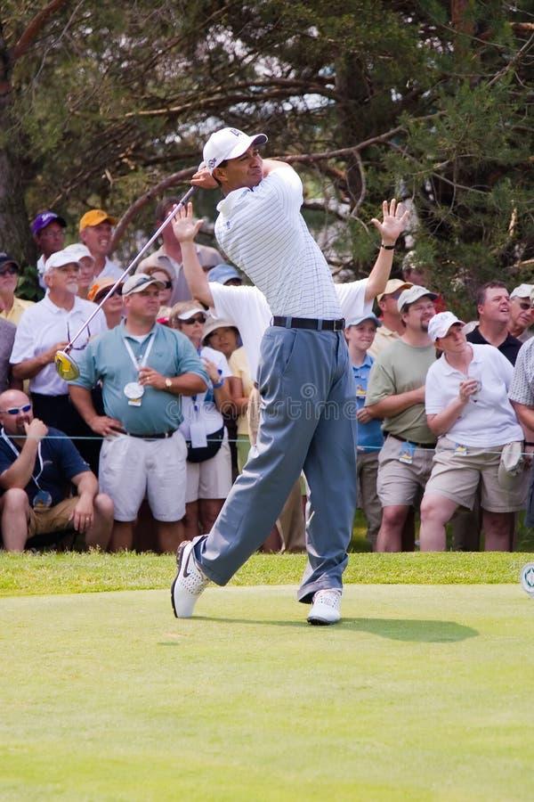Balanço cheio 4 de Tiger Woods de 6 fotografia de stock royalty free