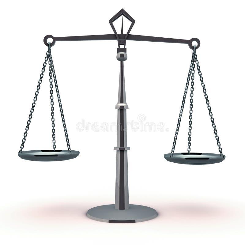 Balanço da escala de justiça ilustração do vetor
