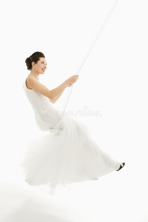 Balanço da noiva. imagens de stock