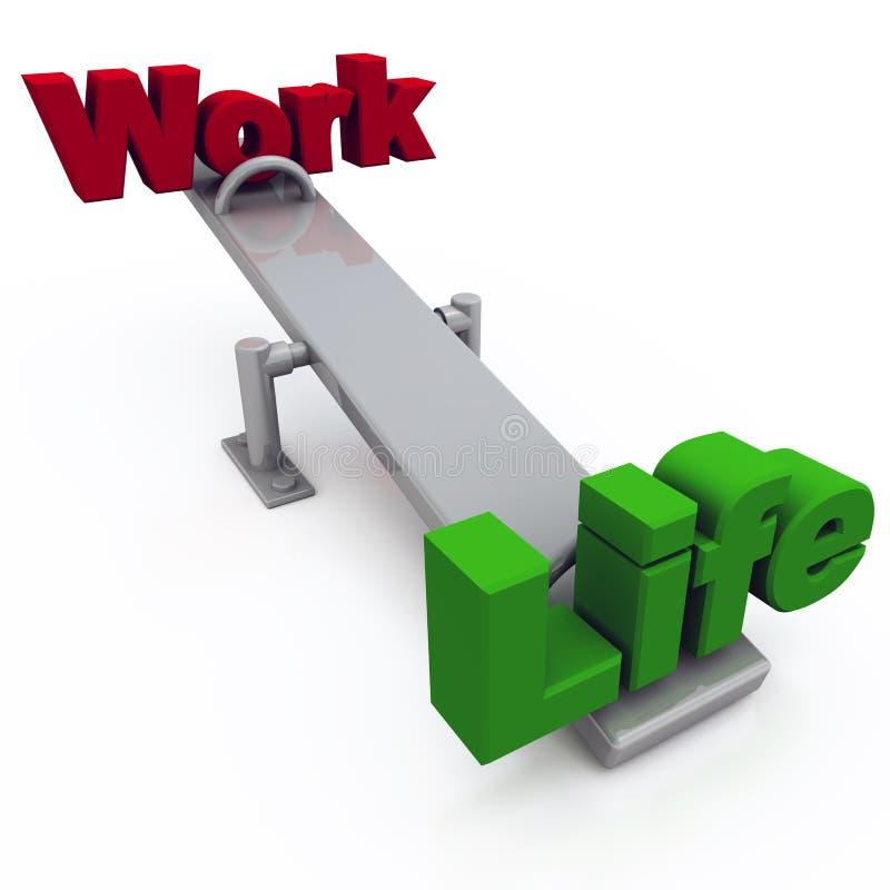 Balanço da vida do trabalho ilustração do vetor