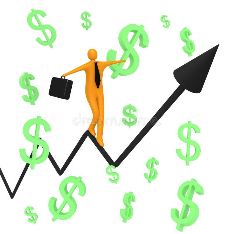 Balanço de cliente ilustração stock