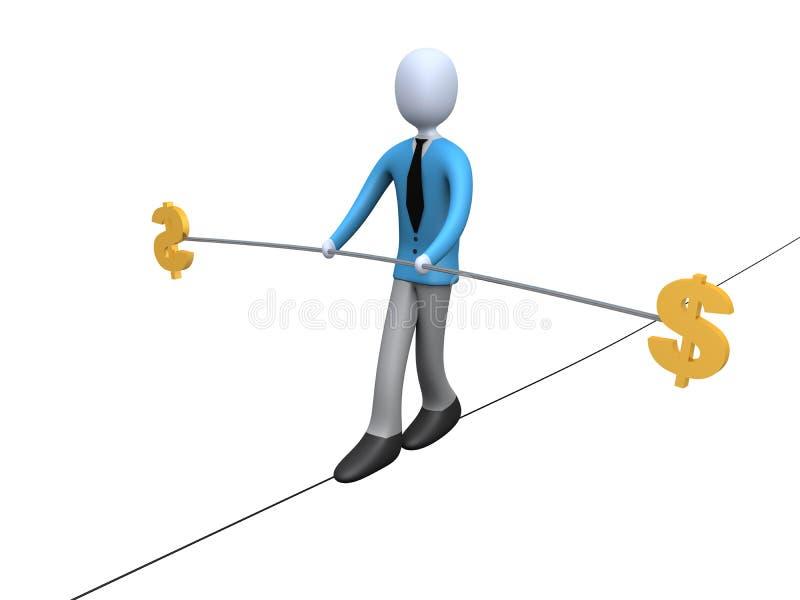 Balanço de dólar ilustração do vetor