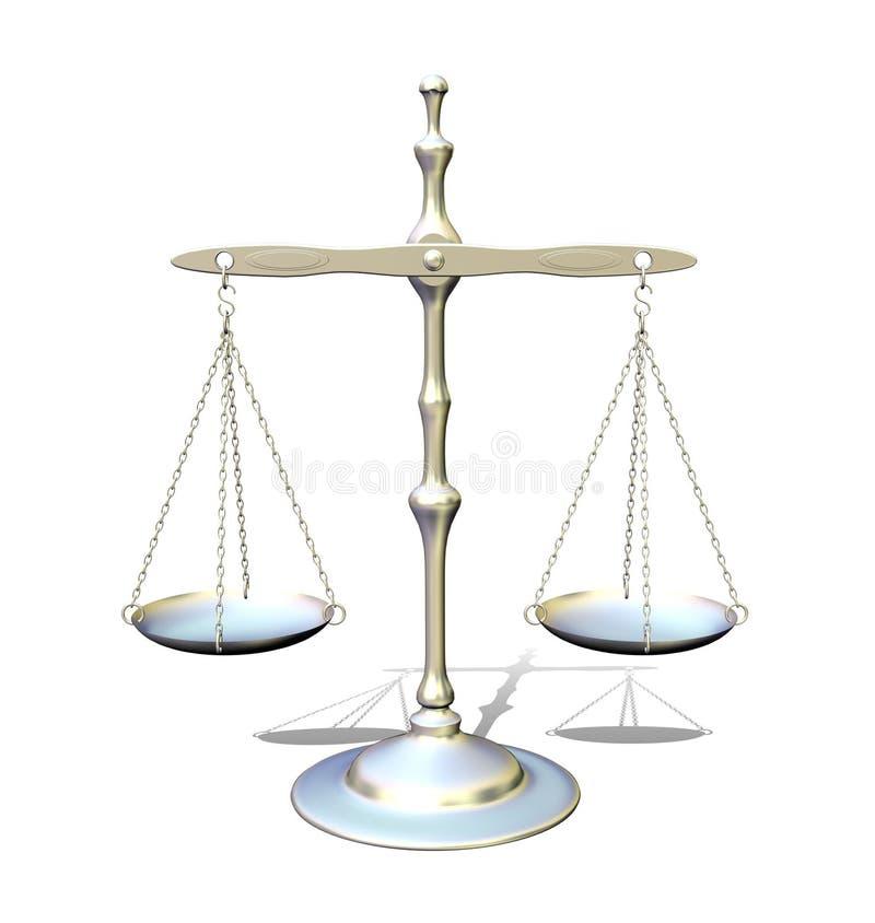Balanço de prata de justiça ilustração royalty free