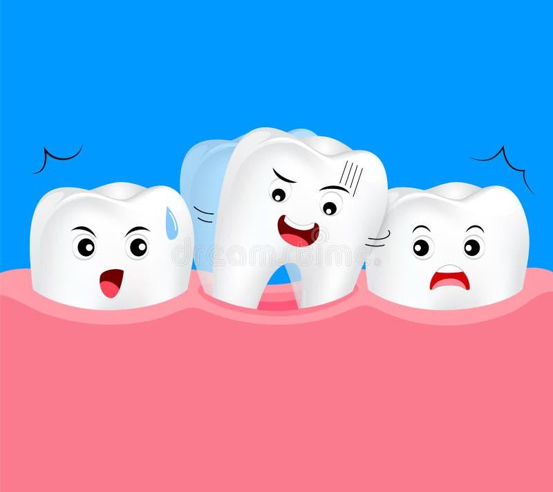 Balanço do dente de bebê ilustração royalty free