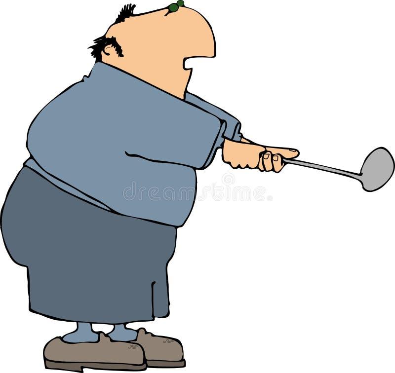 Balanço do golfe ilustração royalty free