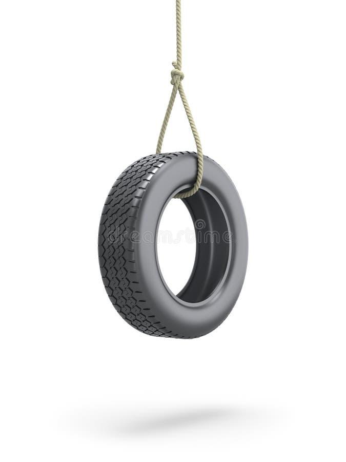 Balanço do pneu ilustração royalty free
