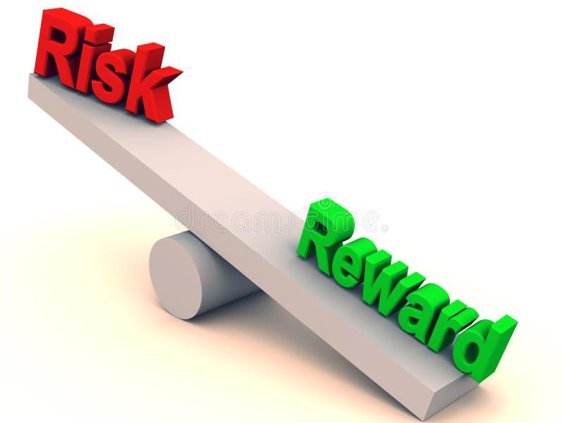 Balanço do risco e da recompensa ilustração royalty free
