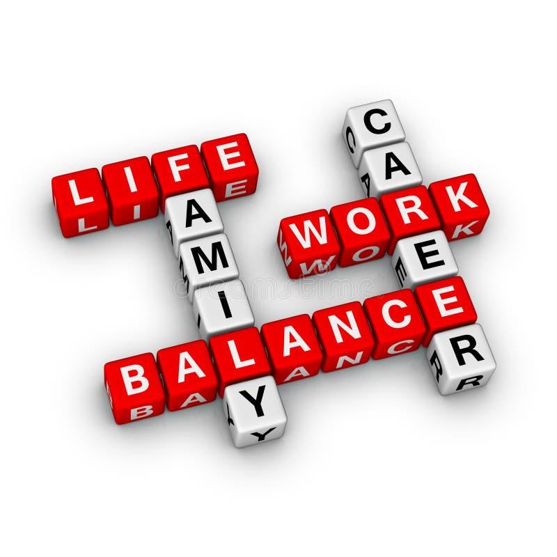 Balanço do trabalho e da vida ilustração do vetor