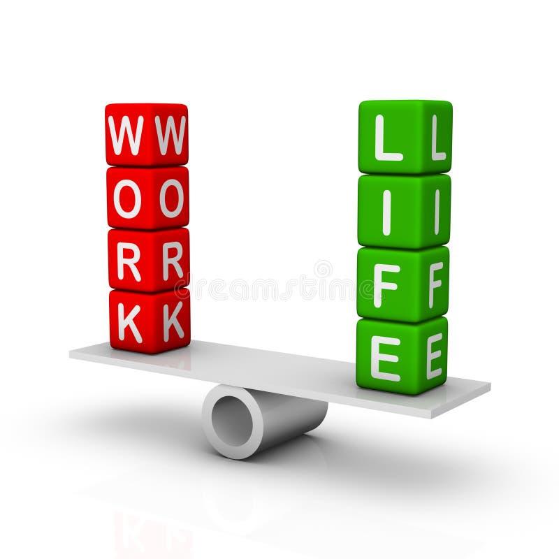 Balanço do trabalho e da vida ilustração royalty free