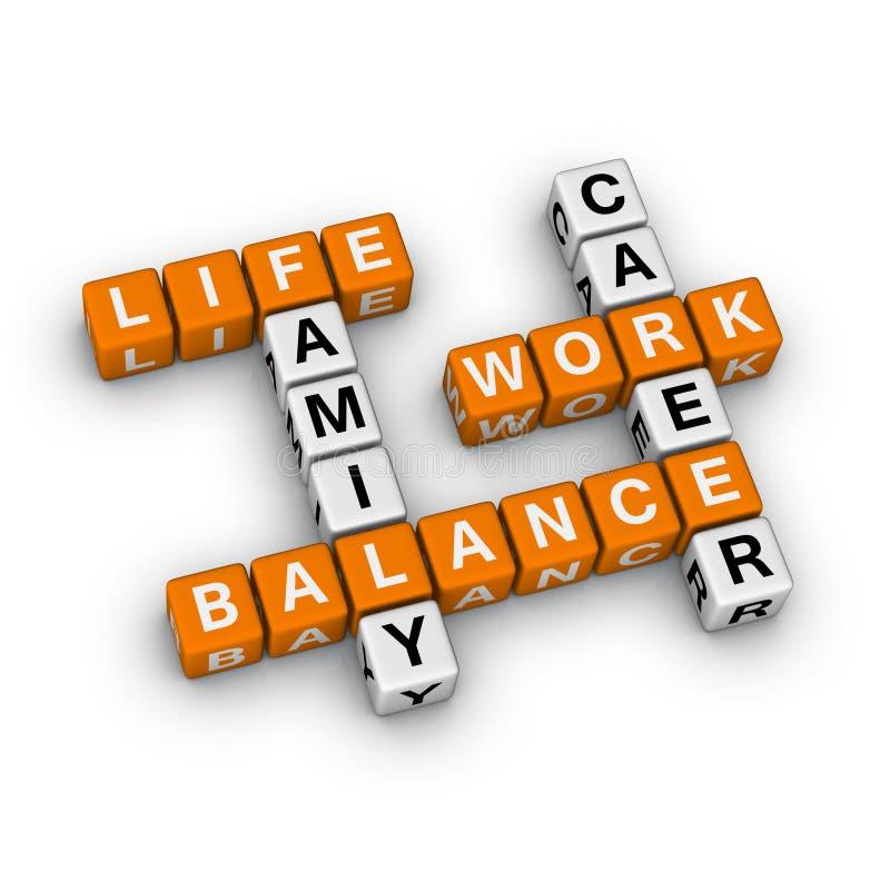 Balanço do trabalho e da vida ilustração stock