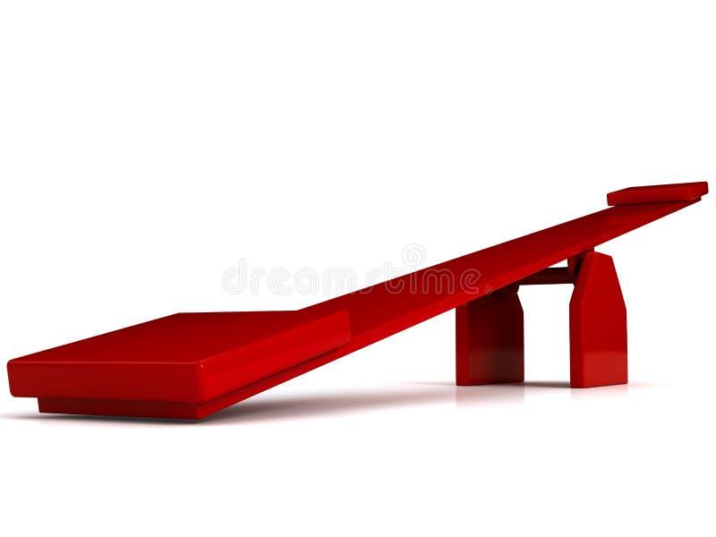 Balanço vermelho sobre o fundo branco ilustração stock