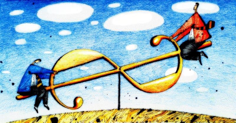 Balançoir illustration de vecteur