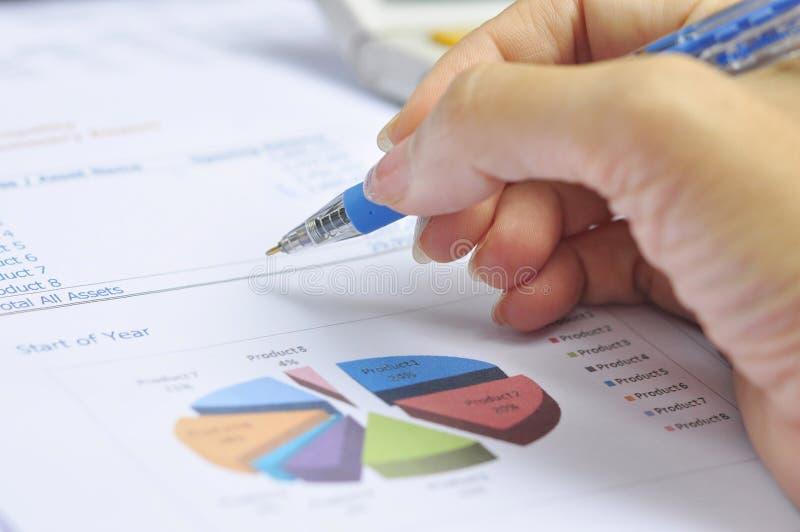 Balanços financeiros imagem de stock