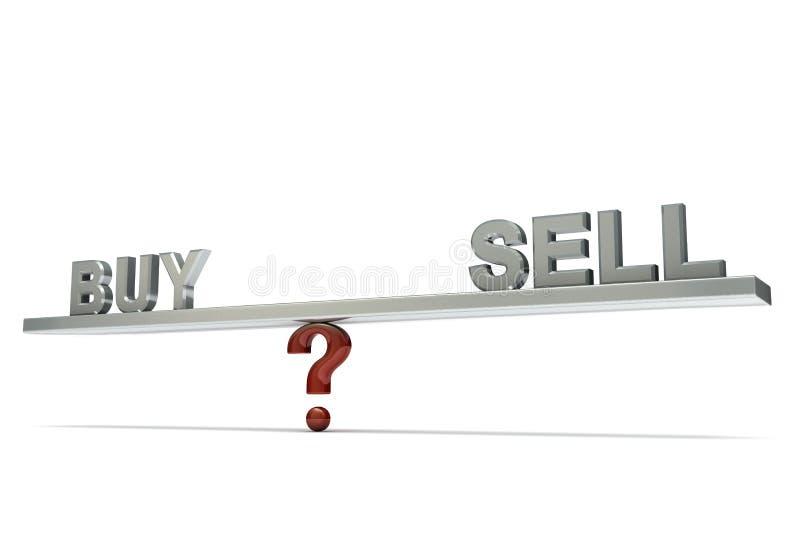 Balancín de compra-venta ilustración del vector