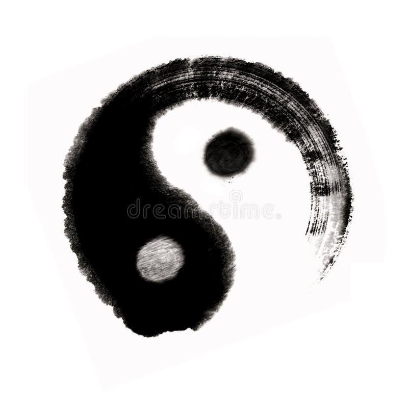 Balanc del yang del yin della pittura cinese grande ultimo illustrazione vettoriale