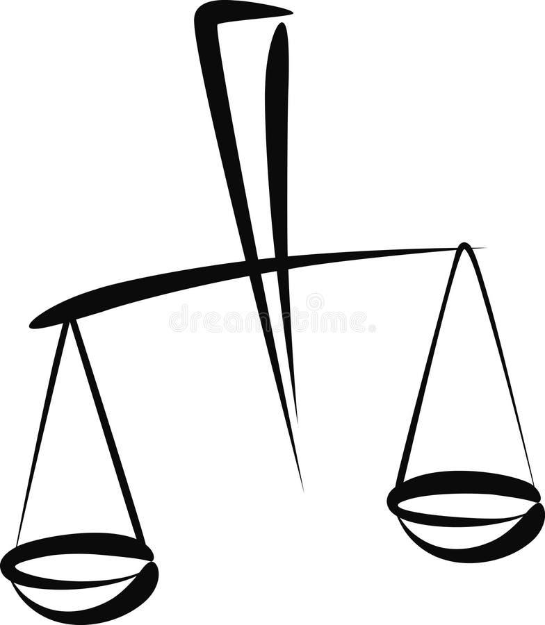 Balance illustration libre de droits