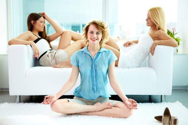 Download Balance stock image. Image of meditation, balance, meditating - 21667717