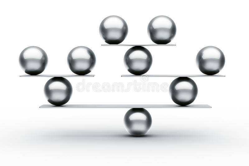 Download Balance stock illustration. Image of concept, spheres - 22188175