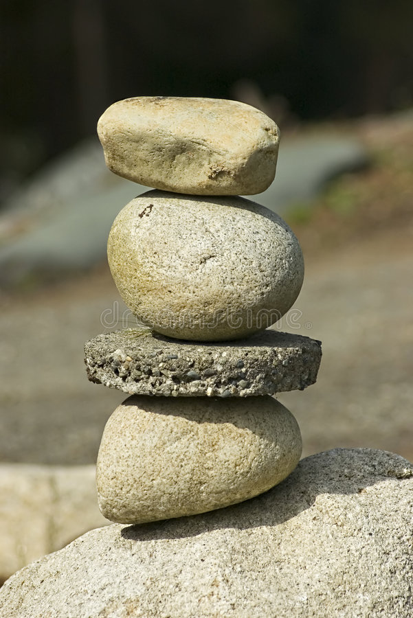 Balance. Balancing stones with shallow depth of field royalty free stock photos