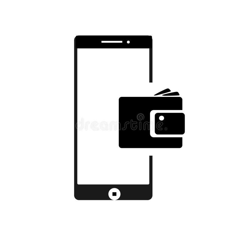 Balance banking cashback Mobile phone icons template black. vector illustration