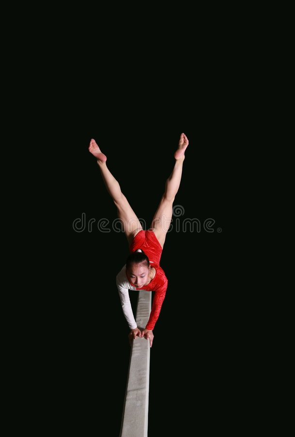 Balance beam stock photo