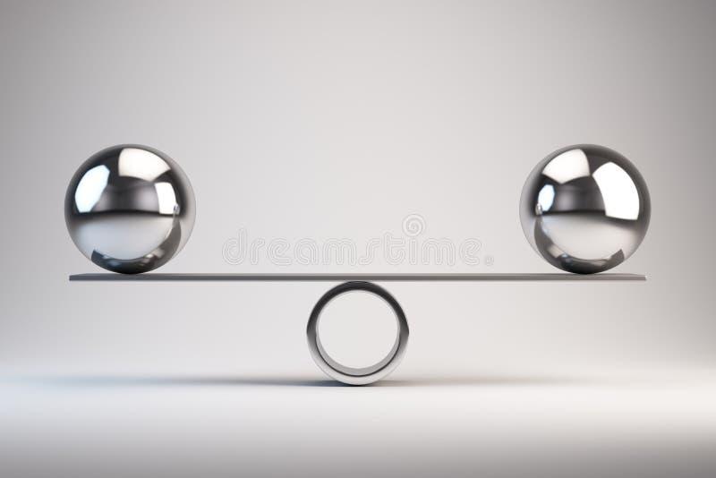 Balance. Concept - 3d rendered illustration