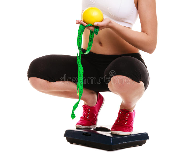 Balance de jambes de femme Régime de la perte de poids photos stock